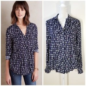 Anthropologie | Maeve Wynwood parrot top